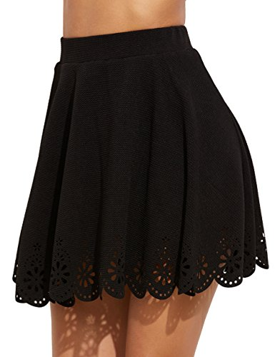 Try a skater skirt paired with a denim jacket. Sequin skirts and tulle skirts are the best friends to be fancy and sexy. Maxi skirt is an essential for all year round, for it can be fairy and fail-safe.