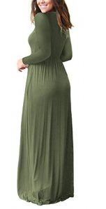 b0f6f7a2a5be AUSELILY Plain Simple Flowy Soft and Comfy Loose Long Maxi Dress with  Pockets